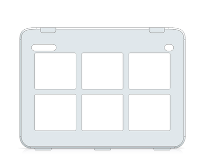 I-110 Snap Core First Keyguard 2x3 Vocabulary Grid with Menu