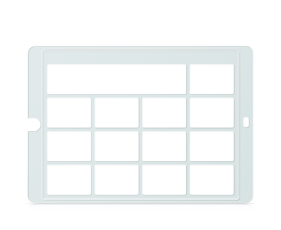 Speech Case Keyguard for Snap Core First 3x3 Vocabulary Grid 4x4 Total Grid with Message Window and Toolbar