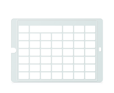 Speech Case Keyguard for Snap Core First 6x6 Vocabulary Grid 7x7 Total Grid with Message Window and Toolbar