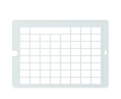 Speech Case Keyguard for Snap Core First 7x7 Vocabulary Grid 8x8 Total Grid with Message Window and Toolbar