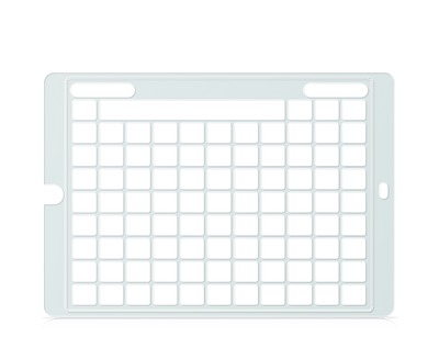 Speech Case Keyguard for Snap Core First with 8x10 Vocabulary Grid 9x11 Total Grid with Menu
