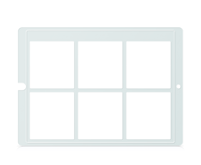 Speech Case Keyguard for Snap Core First with 2x3 Vocabulary Grid