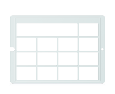 Speech Case Pro Keyguard for Snap Core First 3x3 Vocabulary Grid 4x4 Total Grid with Message Window and Toolbar
