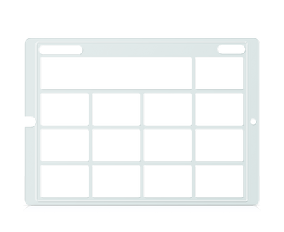 Speech Case Pro Keyguard for Snap Core First with 3x3 Vocabulary Grid 4x4 Total Grid with Menu