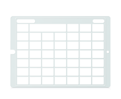 Speech Case Pro Keyguard for Snap Core First with 6x6 Vocabulary Grid 7x7 Total Grid with Menu