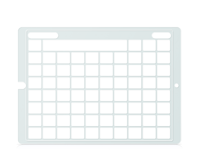 Speech Case Pro Keyguard for Snap Core First with 8x10 Vocabulary Grid 9x11 Total Grid with Menu