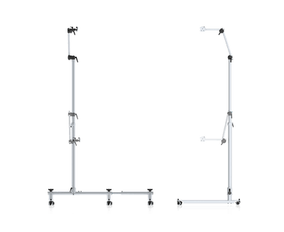 Tobii Dynavox ConnectIT Vario Floorstand featuring rolling flexible base and adjustable height