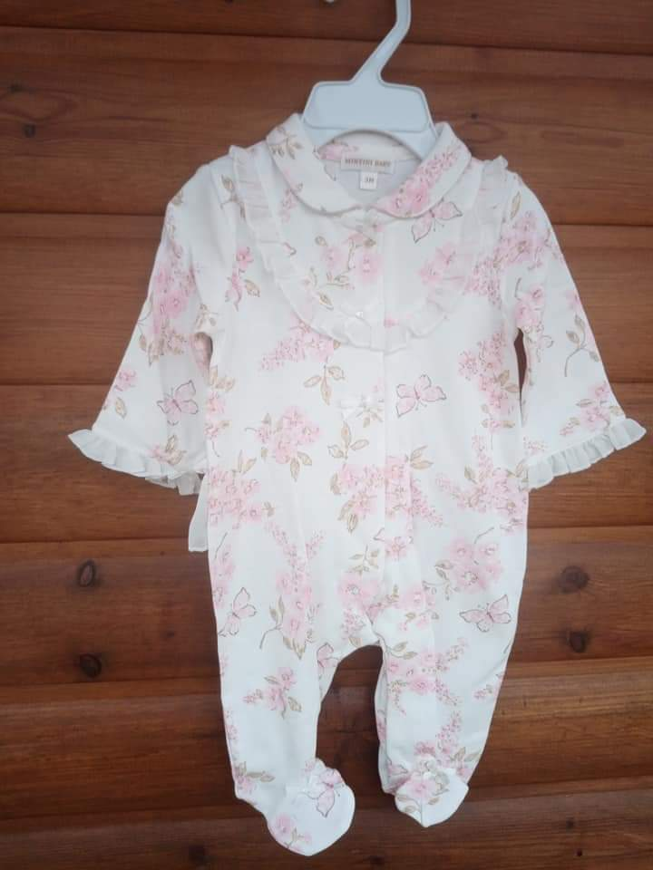 spanish babygrow frilly