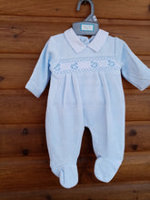 Load image into Gallery viewer, blue babygrow