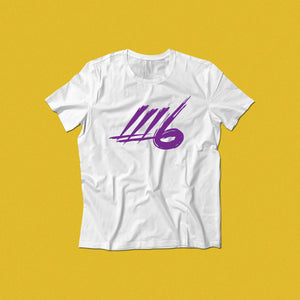 LLL6 Solid Color White Logo Tee