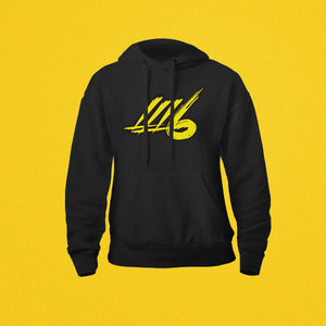 LLL6 Solid Color Black Logo Hoodie
