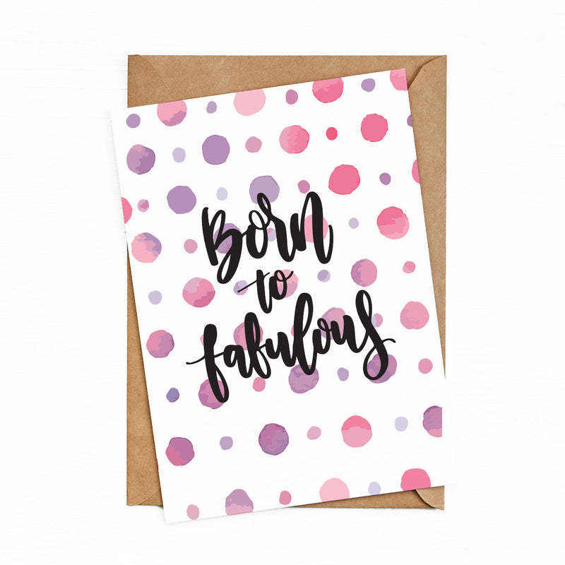 Greeting Cards Born to fabulous by bukuqu