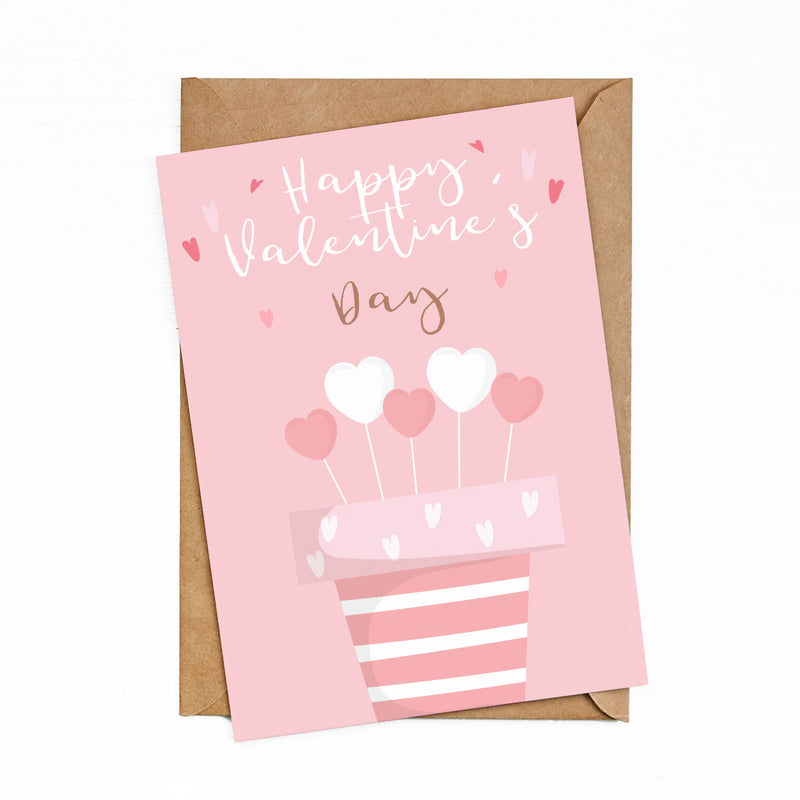 Greeting Cards Valentine Day Pink by bukuqu