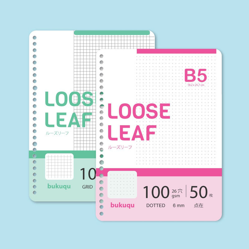 Loose Leaf B5 100 gsm Rounded by bukuqu