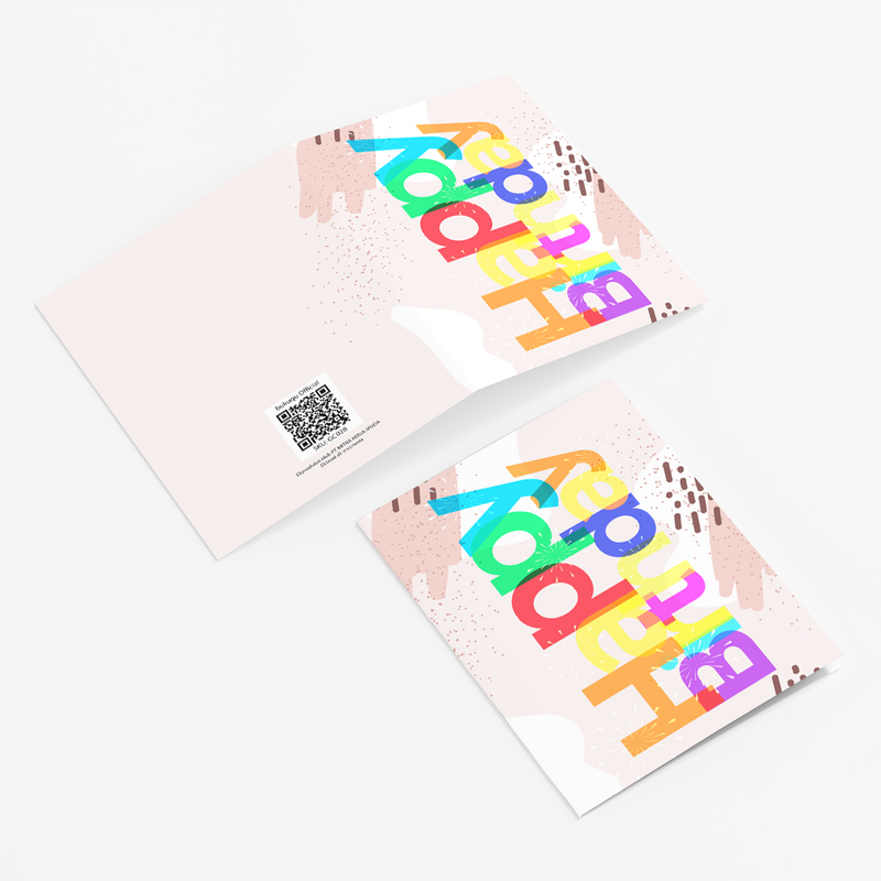 Greeting Cards HBD Color by bukuqu