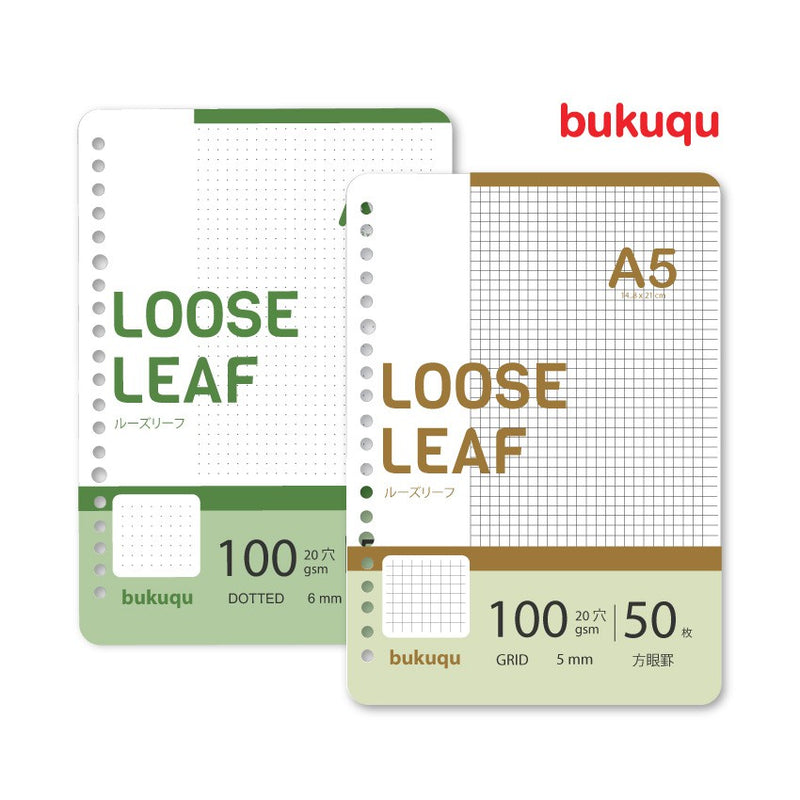 Loose Leaf A5 100 gsm Rounded by bukuqu