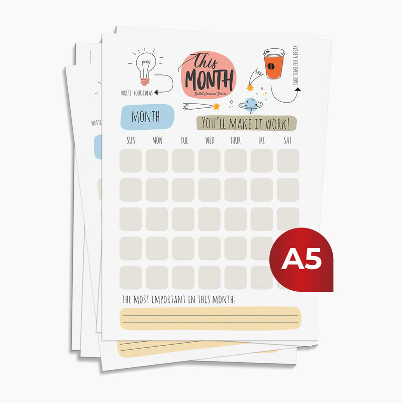 Kertas HVS A5 - This month Journal by bukuqu