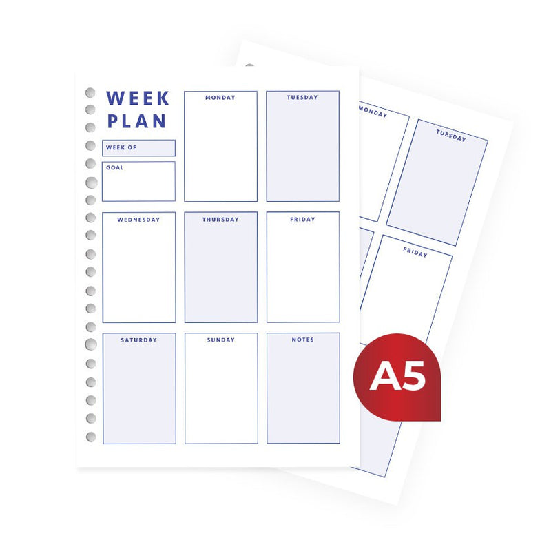 Loose Leaf A5 Week Plan by bukuqu