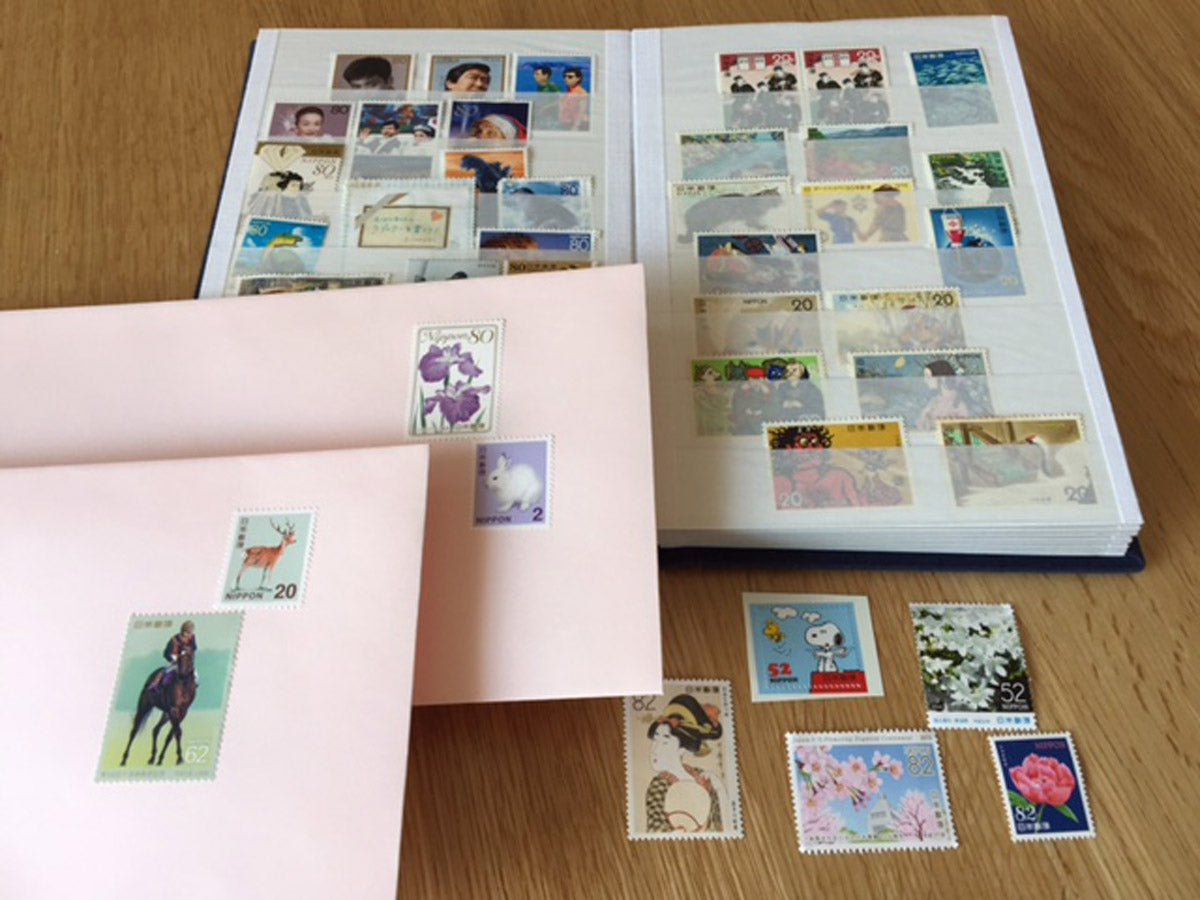Use a special folder for stamps for convenience.