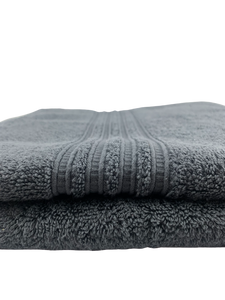 Stripe Fancy Border Bath Towels - Trout
