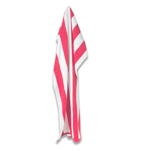 Cabana Striped Pool Towel - Pink - Terry House