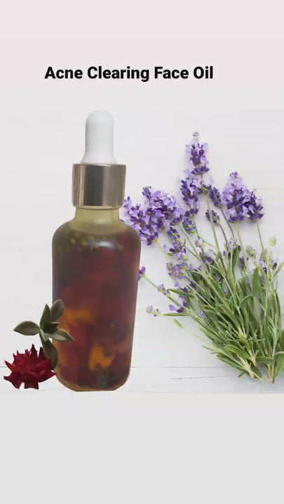 CLEAR Skin Repair Oil- Infused with Lavender & Rose