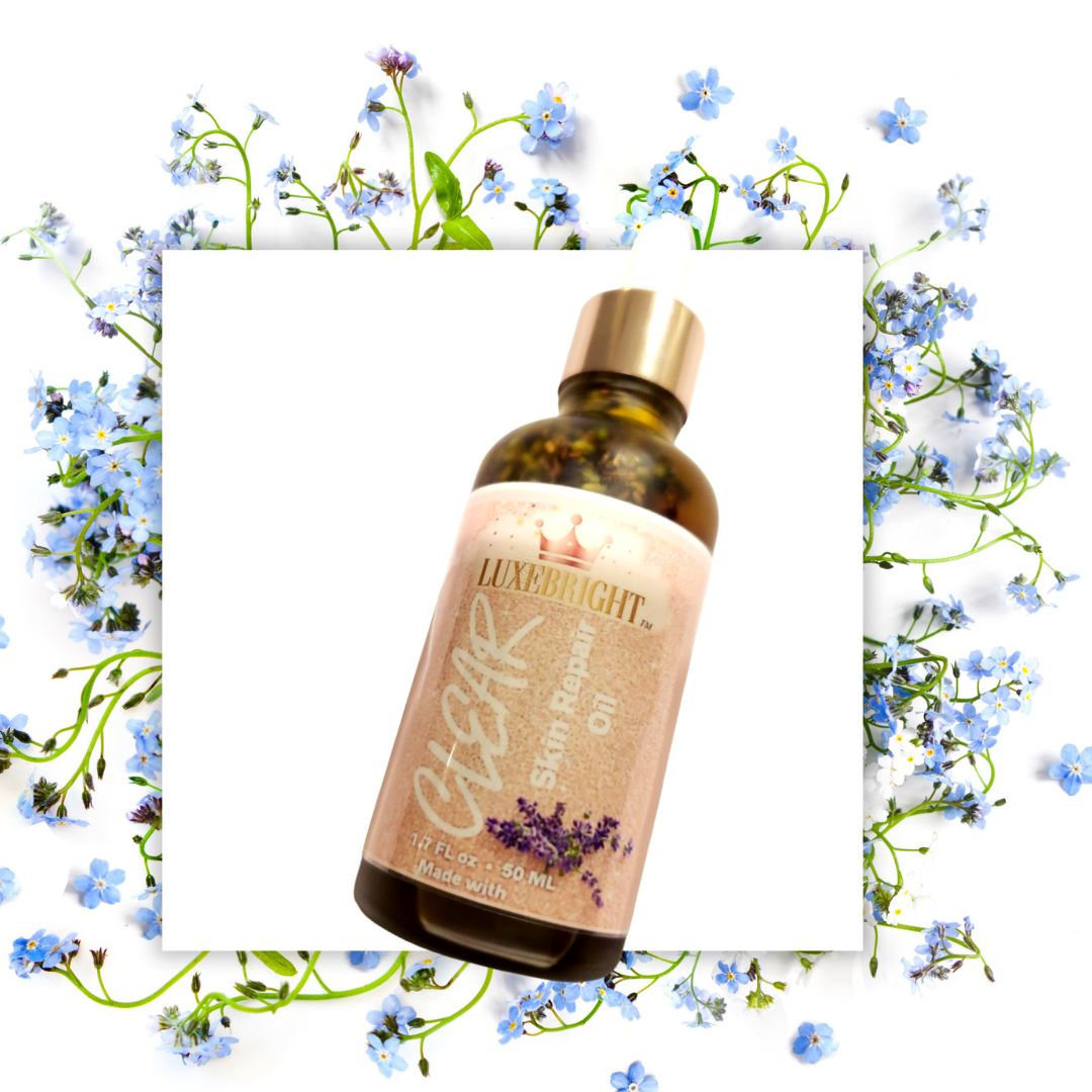 CLEAR Skin Repair Oil- Infused with Lavender & Rose - Luxebright Skincare LLC