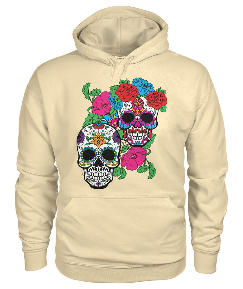 Day of The Dead (Dia De Los Muertos) Hoodie With Fun Sugar Skull - SugarSkulls.io