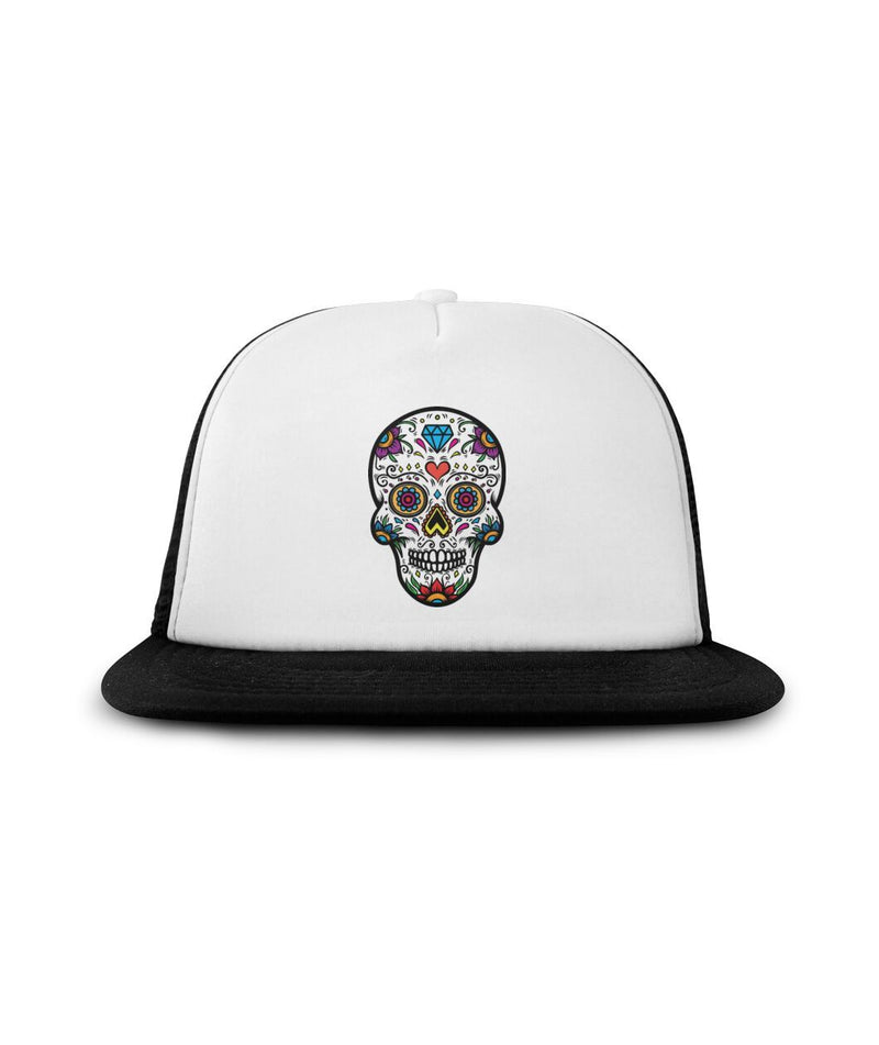 "Sugar Skull ""Crazy Blue Diamond"" Sublimation Hat - SugarSkulls.io"