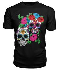 Day of The Dead (Dia De Los Muertos) With Fun Sugar Skull Premium Unisex Tee - SugarSkulls.io