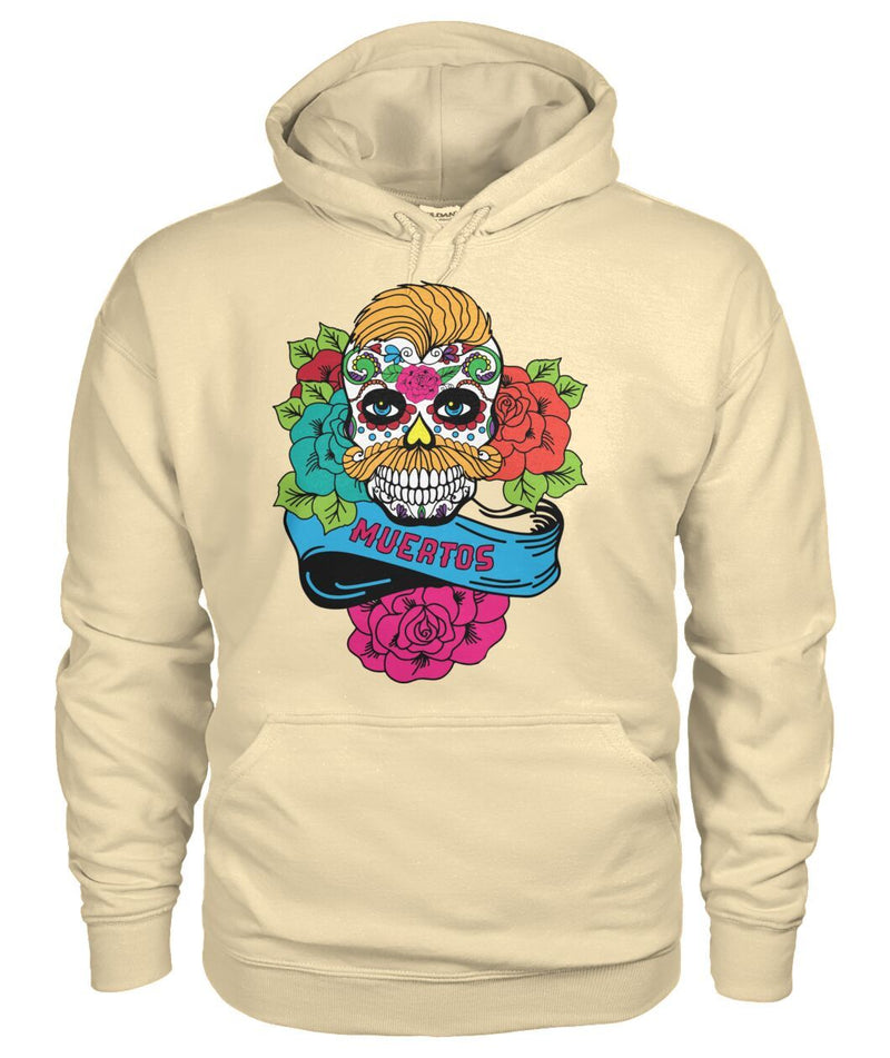 Dia De Los Muertos Banner Male Sugar Skull (Orange Hair) - SugarSkulls.io