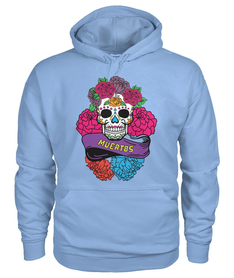 "Day of The Dead (Dia De Los Muertos) Sugar Skull With ""Muertos"" Banner - SugarSkulls.io"