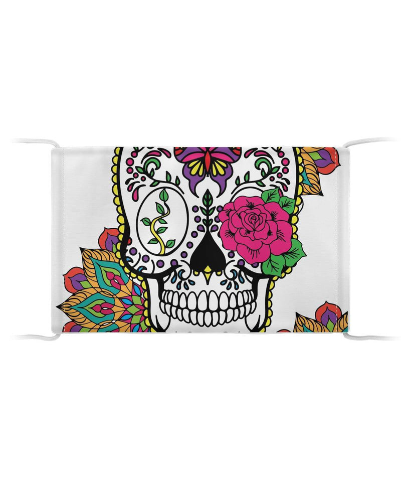 Full Sugar Skull With Eye Rose Cloth Face Mask - SugarSkulls.io