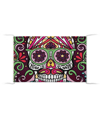 Full Sugar Skull Crazy Glases Cloth Face Mask - SugarSkulls.io