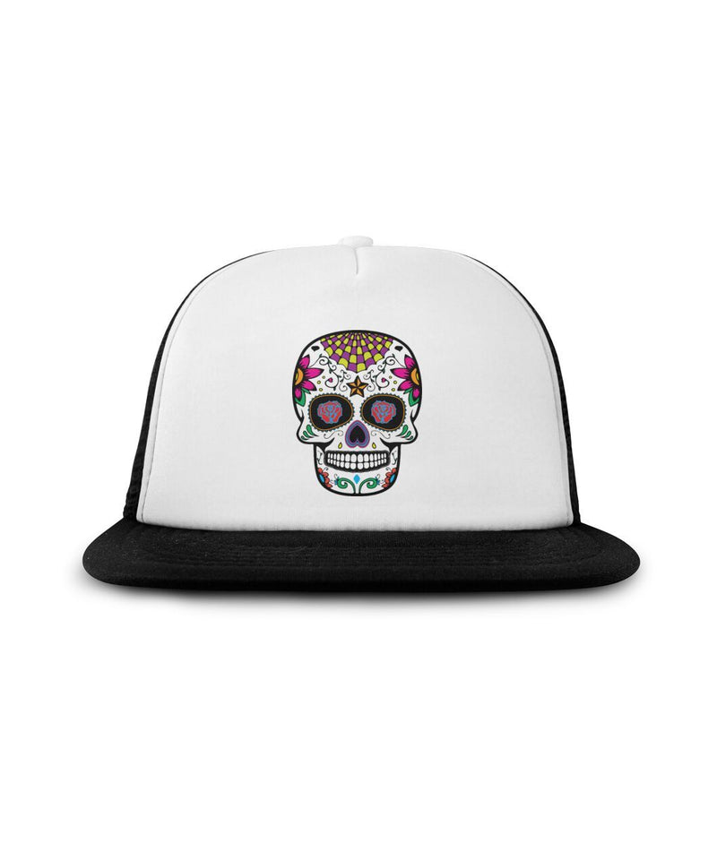 "Sugar Skull ""Rose Eyes"" Sublimation Hat - SugarSkulls.io"