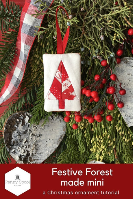Festive Forest Christmas Ornament - a mini tutorial