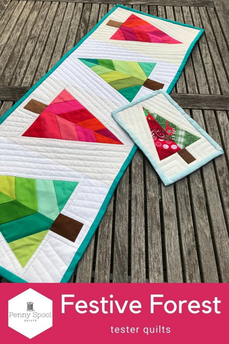 Festive Forest - tester quilts