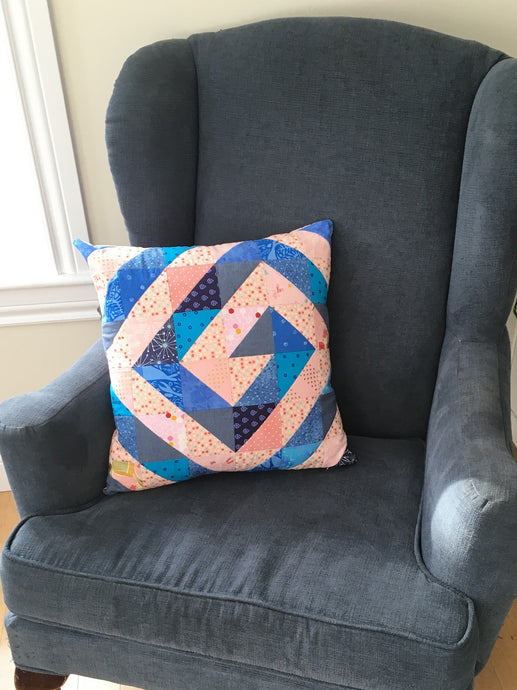 Ripple & Swirl - the scrappy swirl pillow