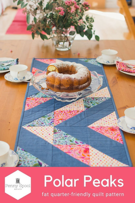 Polar Peaks Table Runner - the Tula Pink version