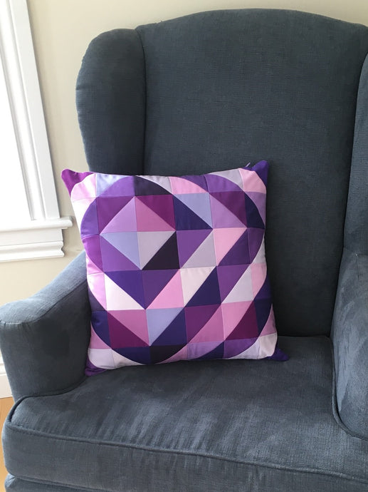Ripple & Swirl - the purple ripple pillow
