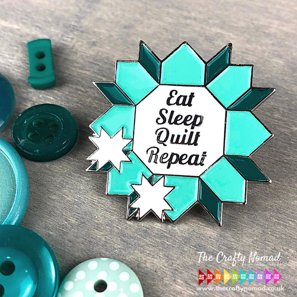 eat sleep quilt repeat enamel pin, Quilty Gift Guide by Penny Spool Quilts