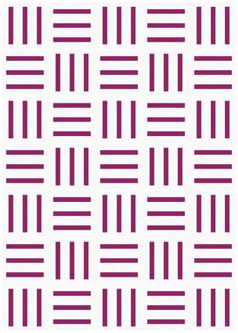 Bar Code quilt pattern by Penny Spool Quilts - mockup in berry on white