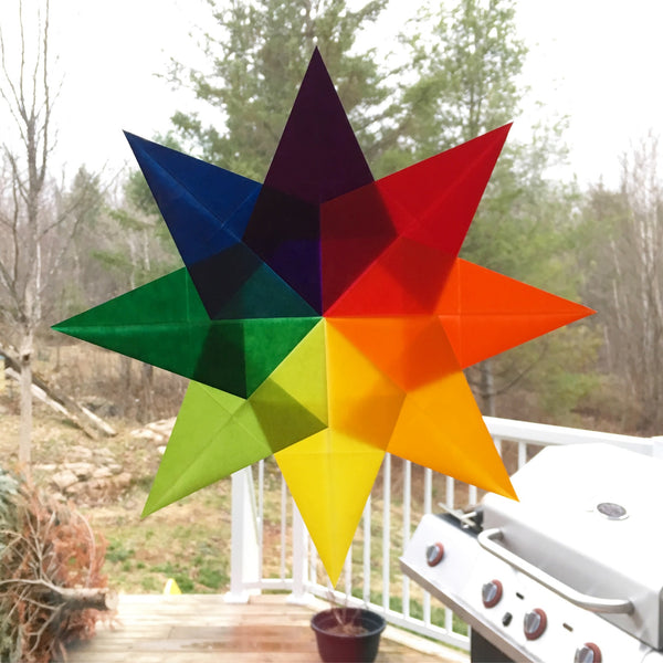 Rainbow Star FPP Quilt Block Pattern by Monika Henry of Penny Spool Quilts