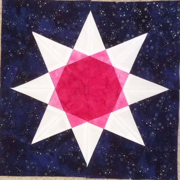 RAinbow STar FPP Quilt pattern by Penny Spool Quilts