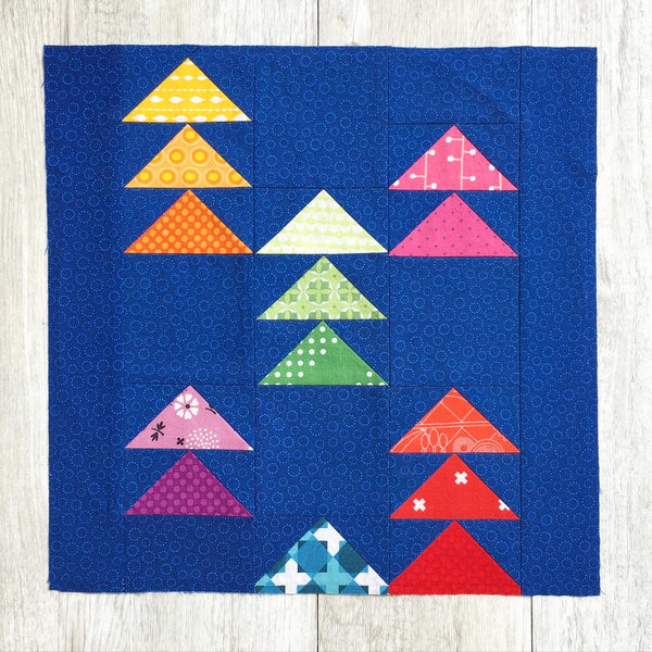 Mini Flocks FPP quilt block pattern by Penny Spool Quilts