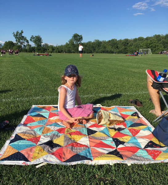how to waterproof a quilt, tutorial by penny spool quilts