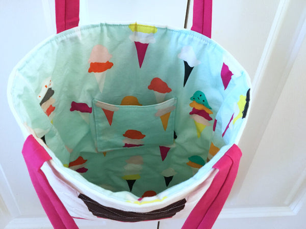 Ice Cream Tote by Penny Spool Quilts
