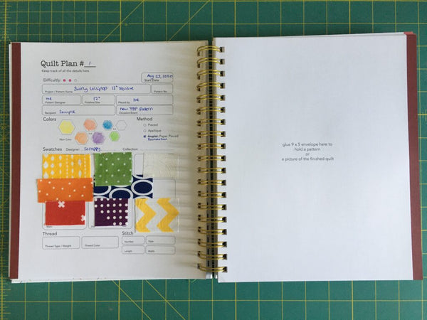 Plan to Quilt quilt planner,  a review by Penny Spool Quilts
