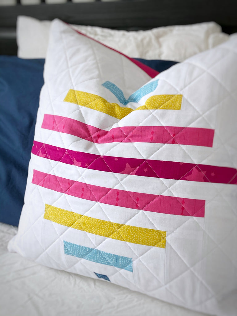spinning top big block geometric quilt pattern by penny spool quilts