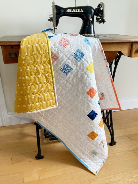 Staccato Quilt - Modern Quilt Pattern by Monika Henry of Penny Spool Quilts - Figo Prickly Pear Baby Quilt